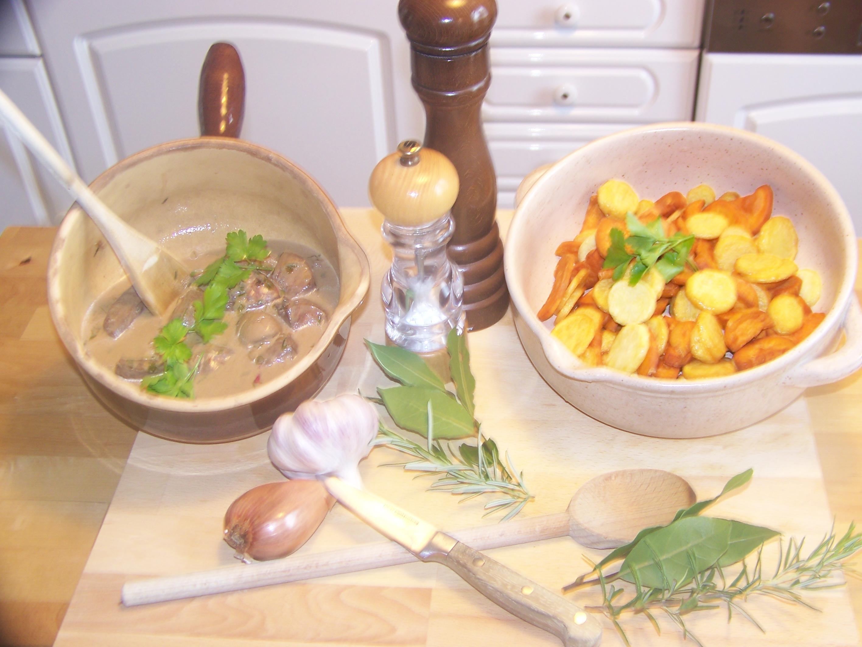 Rognon de veau a la moutarde et vinaigre balsamique - Rognons de veau a la creme ...